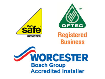 gas safe and oftec registered logos